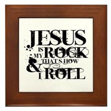 Jesus is My Rock Framed Tile