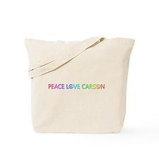 Peace Love Carson Tote Bag