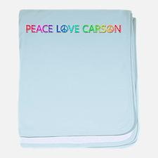 Peace Love Carson baby blanket
