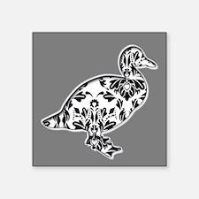Damask Duck Design with Grey Sticker