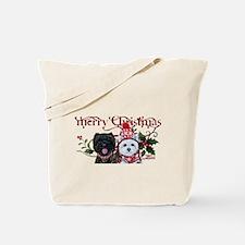 Westie Cairn Christmas Tote Bag