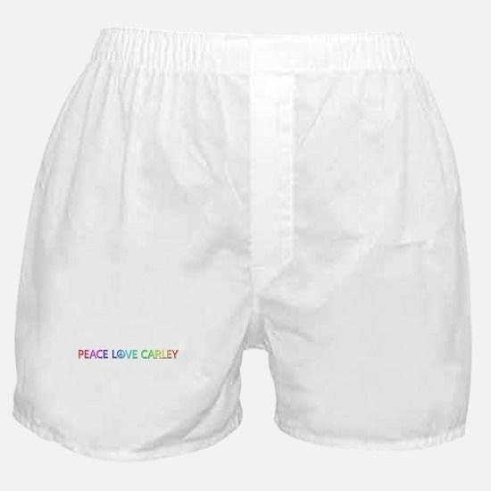 Peace Love Carley Boxer Shorts