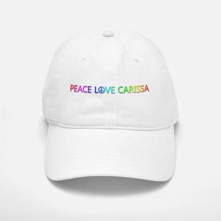 Peace Love Carissa Baseball Baseball Baseball Cap