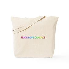 Peace Love Candace Tote Bag