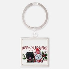 Westie Cairn Christmas Keychains