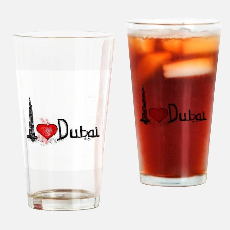 I love Dubai 1 Drinking Glass