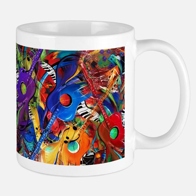 Guitars Ceramic Coffee Mug