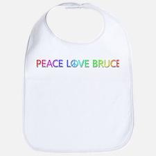 Peace Love Bruce Bib
