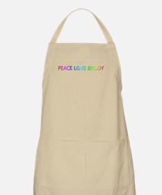 Peace Love Brody Apron
