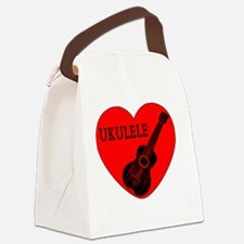 Cute Ukelele Canvas Lunch Bag