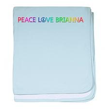 Peace Love Brianna baby blanket