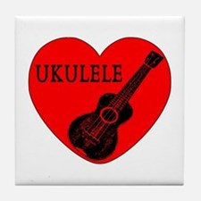 Ukulele Love Tile Coaster