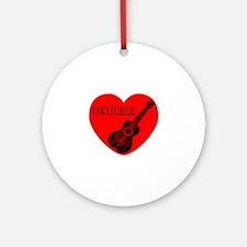 Ukulele Love Round Ornament