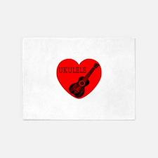 Ukulele Love 5'x7'Area Rug