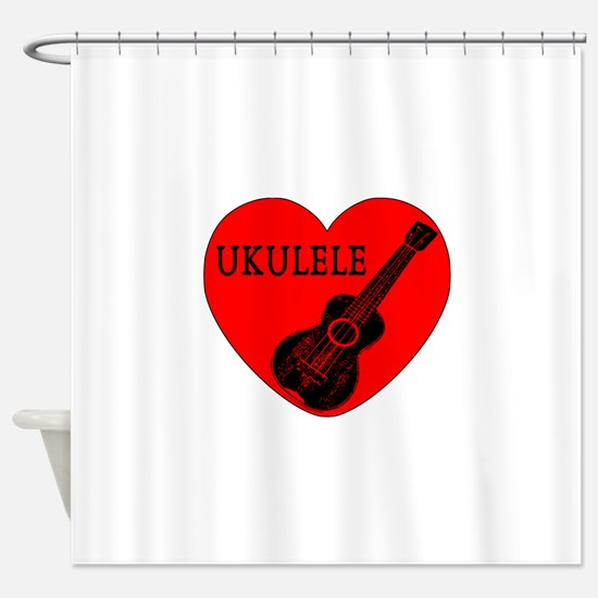 Ukulele Love Shower Curtain