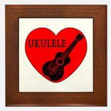Ukulele Love Framed Tile