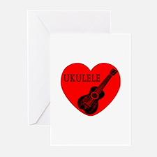 Ukulele Love Greeting Cards