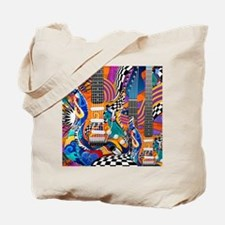 Pop Art Guitar Art Music Art Tote Bag