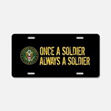U.S. Army: Once a Soldier, Aluminum License Plate