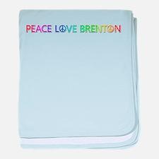 Peace Love Brenton baby blanket