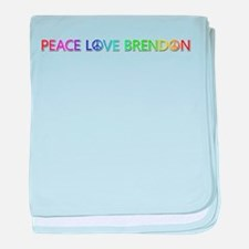 Peace Love Brendon baby blanket