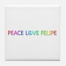 Peace Love Felipe Tile Coaster
