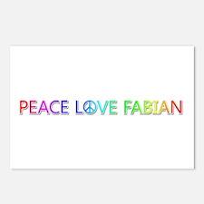 Peace Love Fabian Postcards 8 Pack