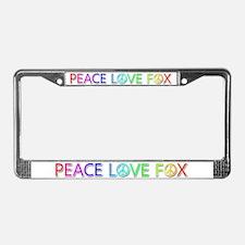 Peace Love Fox License Plate Frame
