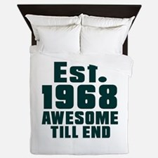 Est. 1968 Awesome Till End Birthday De Queen Duvet