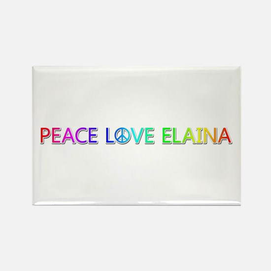 Peace Love Elaina Rectangle Magnet