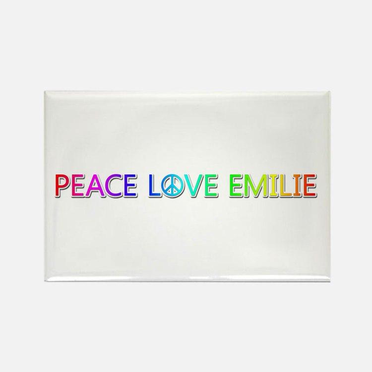 Peace Love Emilie Rectangle Magnet