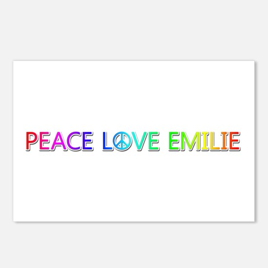 Peace Love Emilie Postcards 8 Pack