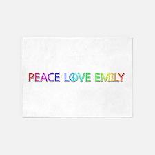 Peace Love Emily 5'x7' Area Rug