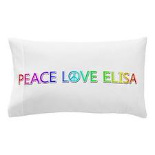 Peace Love Elisa Pillow Case