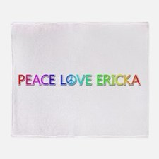 Peace Love Ericka Throw Blanket