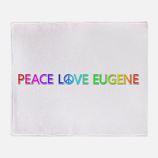 Peace Love Eugene Throw Blanket