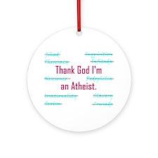 THANK GOD Ornament (Round)