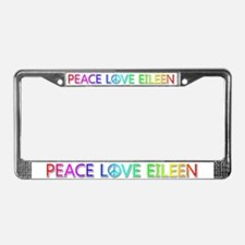 Peace Love Eileen License Plate Frame
