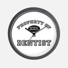 Property of a Dentist Wall Clock