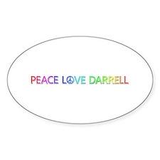Peace Love Darrell Oval Decal