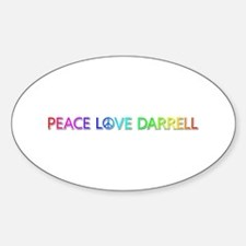 Peace Love Darrell Oval Decal