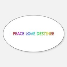 Peace Love Destinee Oval Decal