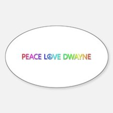 Peace Love Dwayne Oval Decal