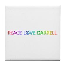 Peace Love Darrell Tile Coaster