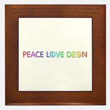 Peace Love Deon Framed Tile