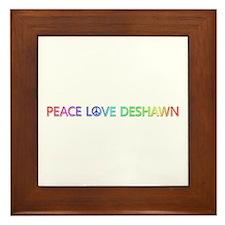 Peace Love Deshawn Framed Tile