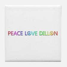 Peace Love Dillon Tile Coaster