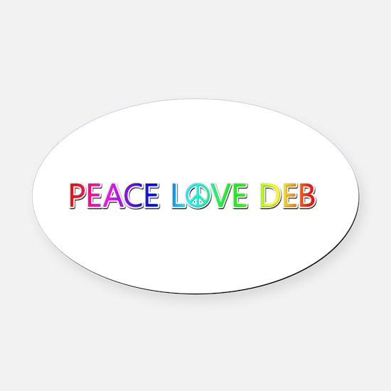 Peace Love Deb Oval Car Magnet