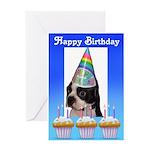 HAPPY BIRTHDAY BOSTON TERRIER Greeting Card