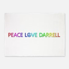 Peace Love Darrell 5'x7' Area Rug